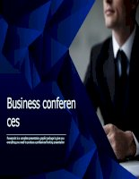 Mẫu business conferences powerpoint template blue