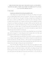 MỘT SỐ PHƯƠNG PHÁP DẠY TRẺ MẪU GIÁO 5- 6 TUỔI HÌNH THÀNH CÁC BIỂU TƯỢNG TOÁN HỌC VỀ THỜI GIAN CỦA NGÀY VÀ CÁC BUỔI TRONG NGÀY