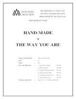 Đề án môn kinh tế vi mô handmade   the way you are