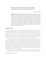 Ảnh hưởng của chế phẩm atonic 1,88DD đến sinh trưởng và năng suất cây lạc