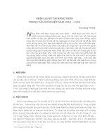 Nhìn lại đề tài nông thôn trong văn xuôi Viêt Nam 1930 - 1945