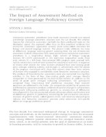 The Impact of Assessment Method on Language proficiency