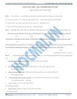 Các thành phần câu phiếu bài tập tổng hợp lớp 4