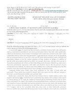50 đề thi thử THPT môn Tiếng Anh 2015  Có lời giải chi tiết  Bản Word