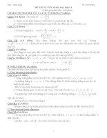 tài liệu luyện đề môn toán
