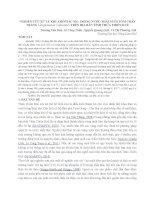 NGHIÊN cứu xử LÝ KHÍ AMÔNIẮC NH3 TRONG nước THẢI NUÔI tôm CHÂN TRẮNG litopenaeus vannamei TRÊN địa BÀN TỈNH THỪA THIÊN HUẾ