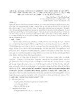 ĐÁNH GIÁ HIỆU QUẢ sử DỤNG của một số CÔNG THỨC THỨC ăn lên TĂNG TRƯỞNG và tỷ lệ SỐNG của cá LĂNG CHẤM hemibagrus guttatus lacépède  1803 aeus 1976  NUÔI THƯƠNG PHẨM tại HƯNG hòa  NGHỆ AN