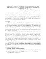 NGHIÊN cứu ẢNH HƯỞNG của một số yếu tố SINH THÁI lên sự PHÁT TRIỂN của QUẦN THỂ tảo CHROOMONAS SALINA và THỬ NGHIỆM NUÔI SINH KHỐI NGOÀI TRỜI