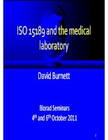 DBu  ISO 15189 and the medical laboratory