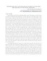TÌNH HÌNH KHAI THÁC và sử DỤNG một số LOÀI ĐỘNG vật THÂN mềm BIỂN MANG độc tố ở NHA TRANG   KHÁNH hòa