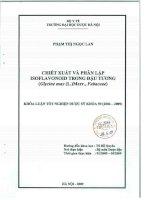 Chiết xuất và phân lập isoflavonoid trong đậu tương (glycine max (l )merr  fabaceae)