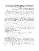 ẢNH HƯỞNG của VIỆC QUY HOẠCH và GIẢI tỏa nò sáo đến CỘNG ĐỒNG NGƯ dân tại một số HUYỆN VEN đầm PHÁ TAM GIANG   cầu HAI  TỈNH THỪA THIÊN HUẾ