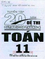 tuyển tập 20 năm đề thi olympic 30 tháng tư toán 11 p1