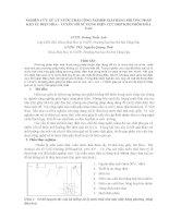 Nghiên cứu xử lý nước thải công nghiệp giấy bằng phương pháp keo tụ điện hóa   tuyển nổi sử dụng điện cực hợp kim nhôm hòa tan (TT)
