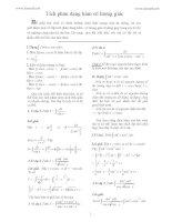 tích phân lượng giác