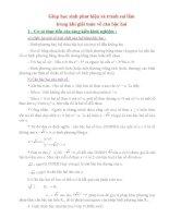 Giúp học sinh phát hiện và tránh sai lầm trong khi giải toán về căn bậc hai