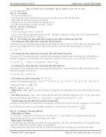 Đề cương vật lý lớp 11 học kỳ 2