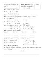 Đề kiểm tra giữa học kì 1 môn toán lớp 2 năm học 2013   2014 trường tiểu học b hòa lạc, an giang