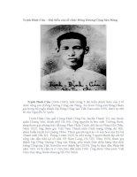 Trịnh Đình Cửu-đại biểu của Đông Dương Cộng Sản Đảng