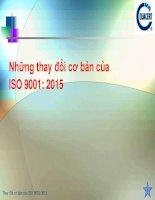 Những thay đổi chính trong iso 9001 và 2015