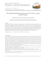The spatial distribution of dust sources in iraq by using satellite images