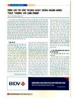Định giá tài sản trong hoạt động ngân hàng   thực trạng và giải pháp