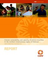 Climate vulnerability and capacity of ethnic minorities in the northern mountainous region of vietnam