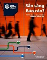 Sẵn sàng báo cáo   giới thiệu báo cáo phát triển bền vững cho các SME (doanh nghiệp có quy mô vừa và nhỏ)