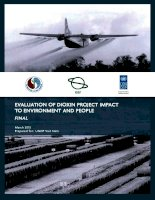 Evaluation of dioxin project impact to environment and people