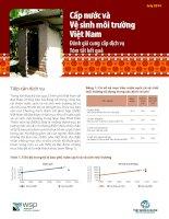 Tóm tắt báo cáo đánh giá cung cấp dịch vụ trong lĩnh vực cấp nước và vệ sinh
