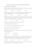 Câu hỏi trắc nghiệm TÍNH QUY LUẬT CỦA HIỆN TƯỢNG DI TRUYỀN (có đáp án)