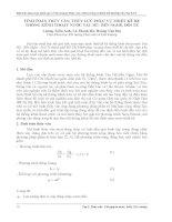 TÍNH TOÁN THỦY văn, THỦY lực PHỤC vụ THIẾT kế hệ THỐNG KÊNH THOÁT nước tàu hũ  bến NGHÉ, đôi tẻ