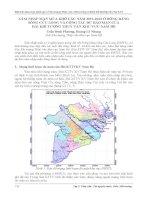XÂM NHẬP mặn mùa KHÔ các năm 2011 2013 ở ĐỒNG BẰNG SÔNG cửu LONG và CÔNG tác dự báo mặn của đài KHÍ TƯỢNG THUỶ văn KHU vực NAM bộ