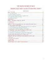 SKKN sử dụng sơ đồ tư duy trong dạy học lịch sử ở trường THPT
