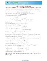 Tập 6 chuyên đề Toán học: Hệ mũ và logarit