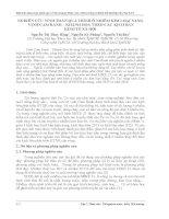 NGHIÊN cứu TÍNH TOÁN QUÁ TRÌNH ô NHIỄM KIM LOẠI NẶNG VỊNH CAM RANH – KHÁNH HOÀ THEO các KỊCH bản KINH tế xã hội