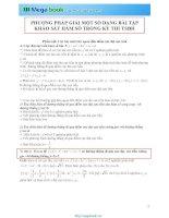 Tập 1 chuyên đề Toán học: Khảo sát hàm số