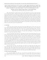 KHẢ NĂNG GIÁM sát từ XA mực nước SÔNG hồ BẰNG THIẾT bị đo NGUYÊN lý PHAO và CÔNG NGHỆ KHÔNG dây TRONG QUAN TRẮC NGHIỆP vụ, dự báo THỦY văn và CẢNH báo lũ lụt