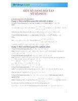 Tập 7 chuyên đề Toán học: Số phức