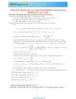 Tập 3 chuyên đề Toán học: Hình học phẳng Oxy