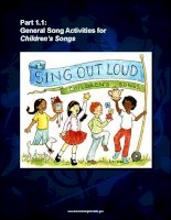Ebook Sing out loud Children Song  complete songbook activities