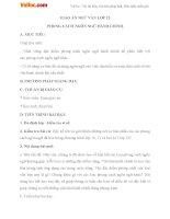 Giáo án ngữ văn 12 tuần 31 bài phong cách ngôn ngữ hành chính