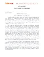Bài văn mẫu lớp 9 thuyết minh về cây lúa nước
