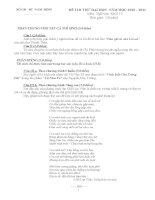 Đề thi thử DH môn văn 3