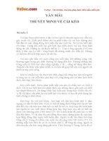 Bài văn mẫu lớp 9 thuyết minh về cái kéo