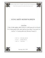 """skkn Một số kinh nghiệm nhằm nâng cao chất lượng cho trẻ độ tuổi 24 36 tháng phát triển ngôn ngữ qua hoạt động """"Làm quen với văn học"""" ở Trường mầm non Phương Trung II"""