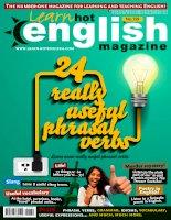 Tạp chí tiếng anh  Hot english magazine  August 2015