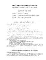 THUYẾT MINH BIỆN PHÁP kỹ THUẬT THI CÔNG CÔNG TRÌNH TIỂU đoàn 2   e21 – BTL BIÊN PHÒNG