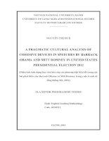 A PRAGMATIC CULTURAL ANALYSIS OF COHESIVE DEVICES IN SPEECHES BY BARRACK OBAMA AND MITT ROMNEY IN UNITED STATES PRESIDENTIAL ELECTION 2012