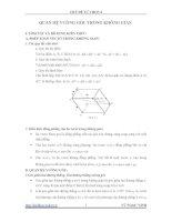 Quan hệ vuông góc trong không gian   Hình học 11 nâng cao